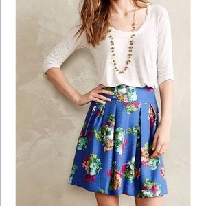 Anthropologie Garden Days Maeve floral skirt